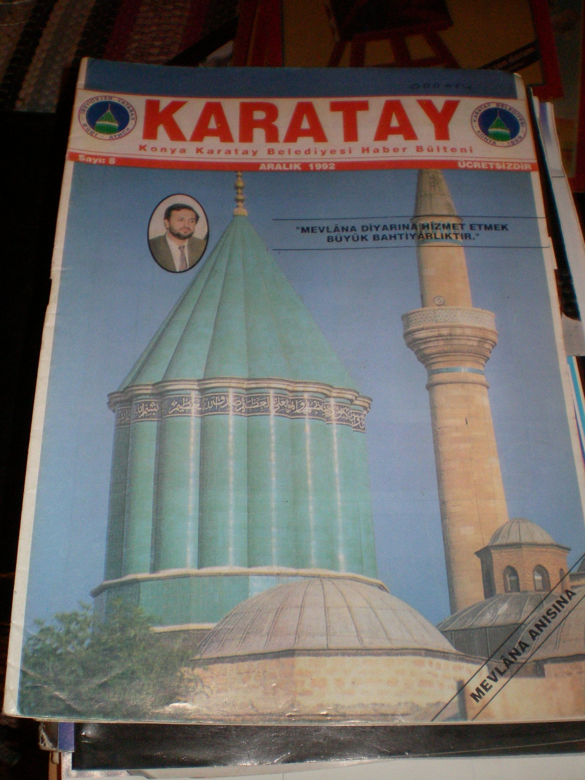 KARATAY-Konya Karatay Belediyesi haber bülteni-aralık 1992/5 tl