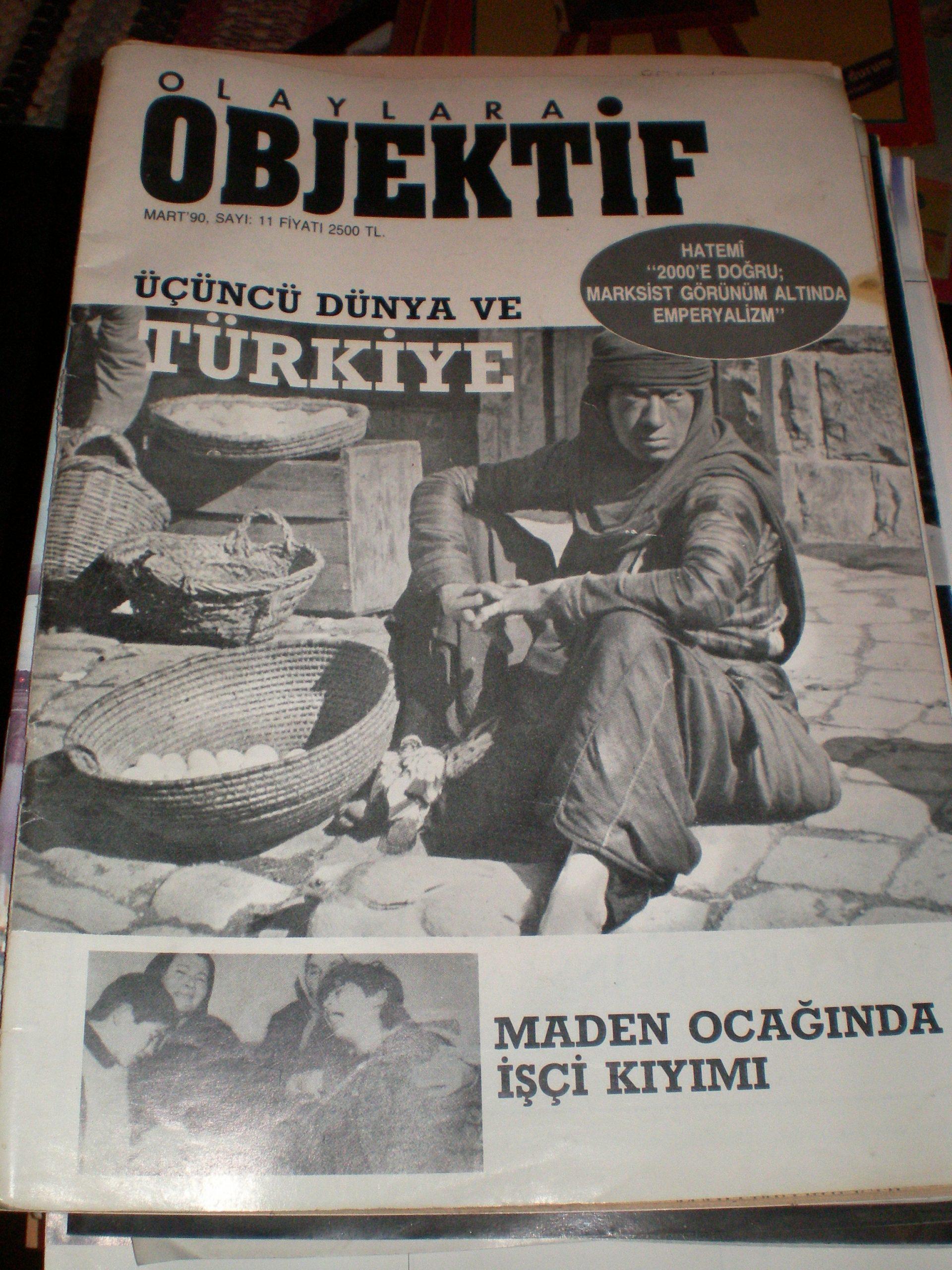 OBJEKTİF DERGİSİ-1990/ 2 adet/ 10tl