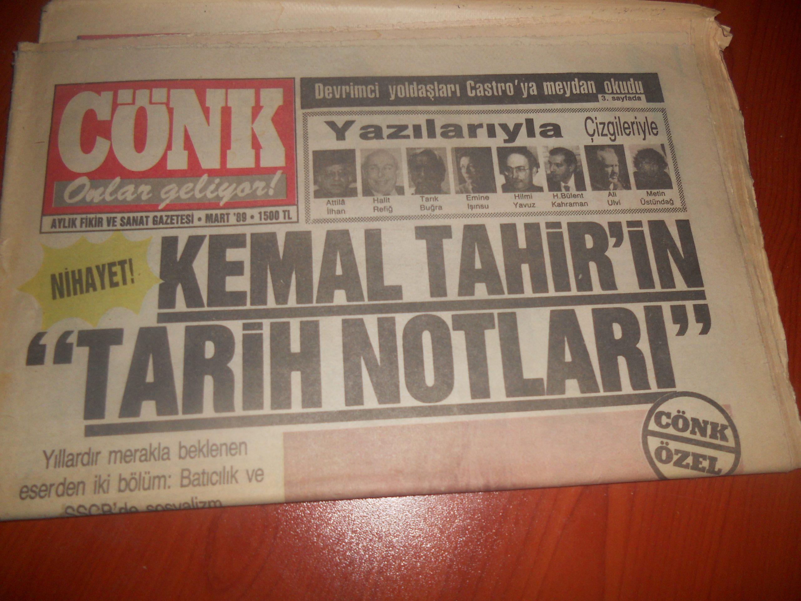 CÖNK DERGİSİ/1988/ 5 adet/30 tl